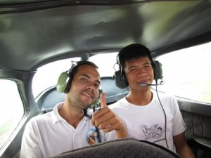 Briane and McCoy enjoyed the survey flight