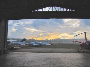 3 Aircraft at the Palawan hangar