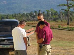 Praying pilots (Sean, Daniel, and Dwayne)