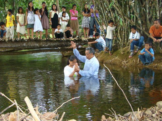One of many baptisms