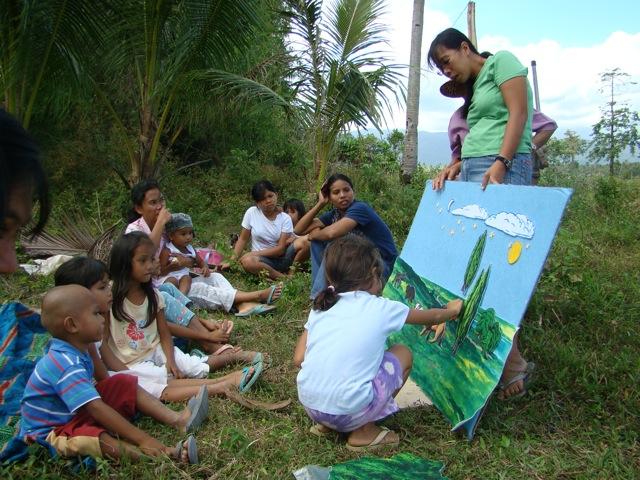 Neighborhood kids come for children's program