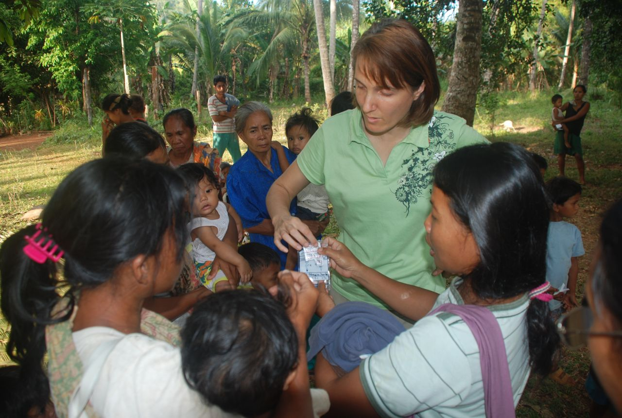 Health workers learn to give meds