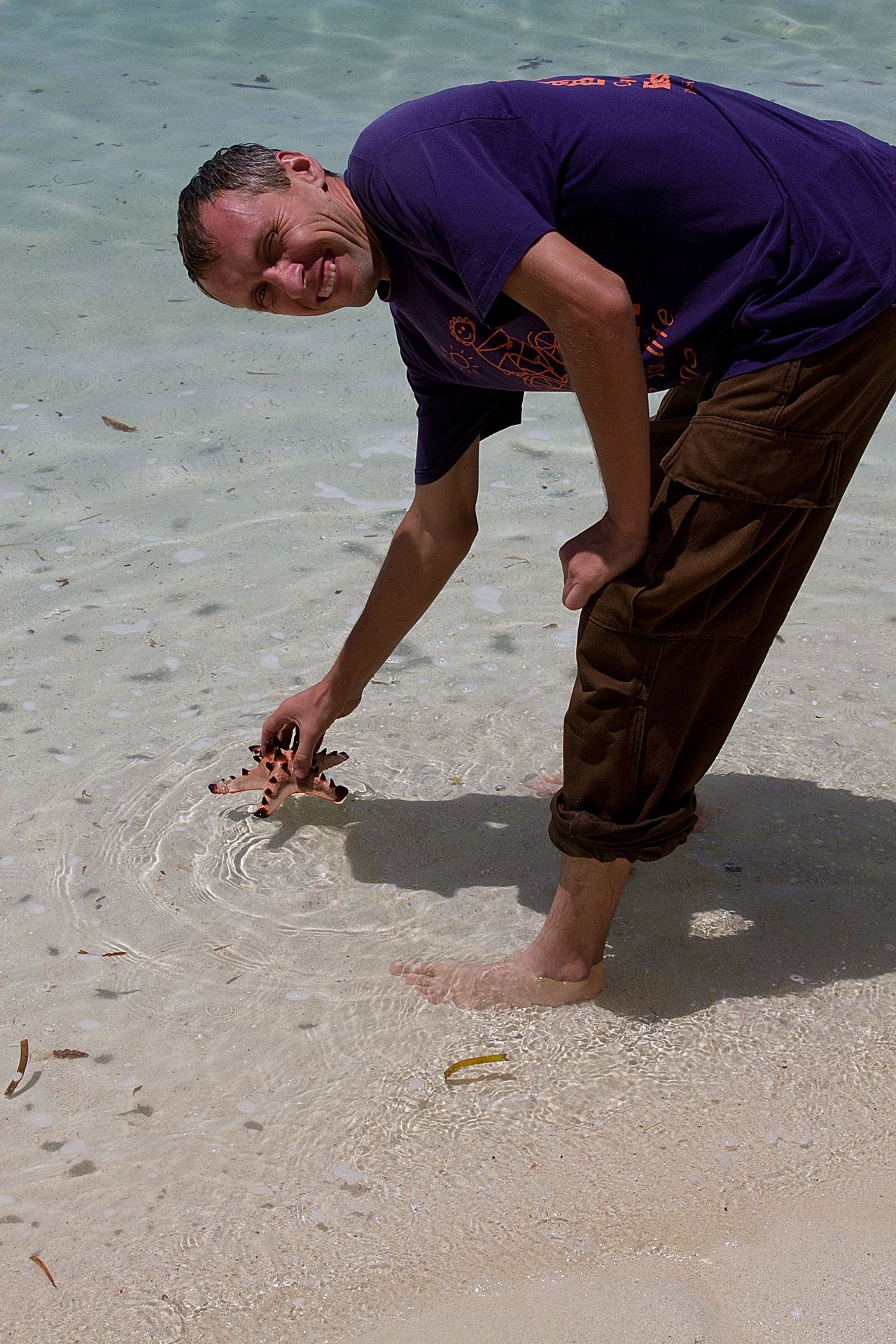 Andrey with starfish
