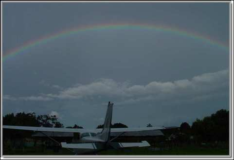 Bob loved to take rainbow pictures - God's promise to work all things together for good